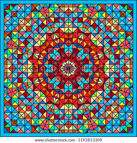 renkli · halı · arka · plan · sanat · mavi - stok fotoğraf © essl