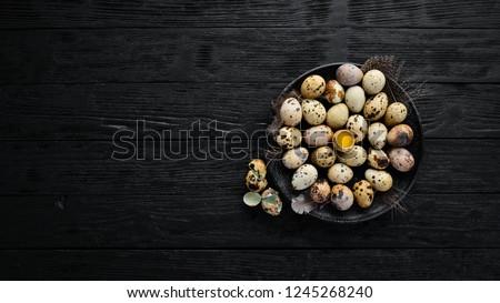 Stockfoto: Organisch · eieren · witte · plaat · houten · tafel