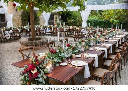lusso · elegante · ricevimento · di · nozze · tavola · floreale - foto d'archivio © ruslanshramko