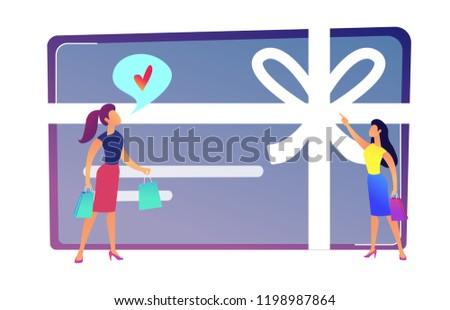 Feminino cartão de presente arco fita vale Foto stock © RAStudio