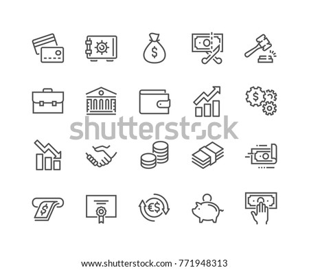 Maletín delgado línea vector icono blanco Foto stock © smoki