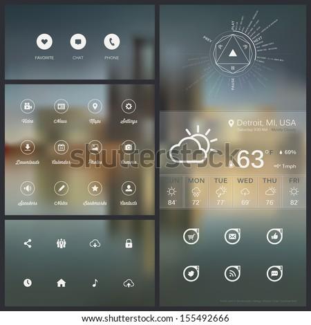 bliksem · vector · ingesteld · geïsoleerd · moderne · eenvoudige - stockfoto © kyryloff