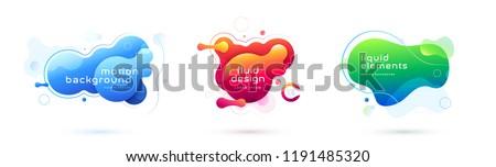 Płyn płynnych streszczenie wektora plastikowe techno Zdjęcia stock © pikepicture