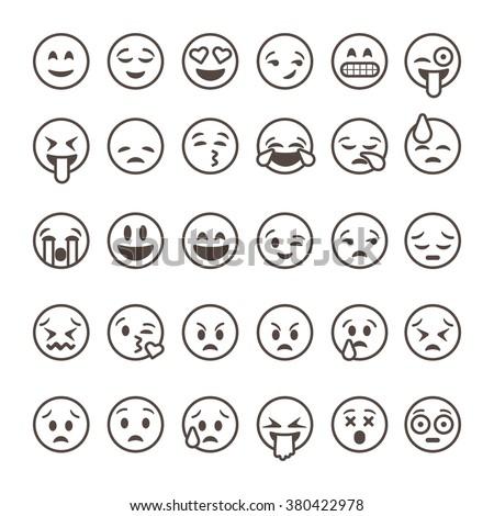 Grappig cute emoticon schets illustratie pop Stockfoto © Blue_daemon