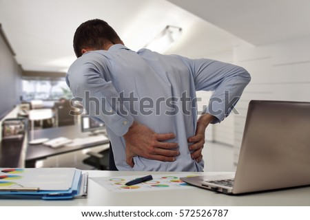 бухгалтер · страдание · столе · вид · сбоку · служба - Сток-фото © andreypopov