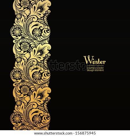Dorado lujo vector oro copo de nieve floral Foto stock © sanyal