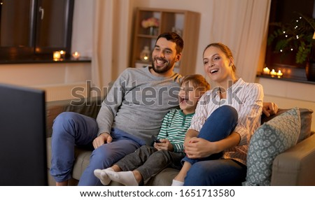 Heureux jeunes père canapé peu Photo stock © Lopolo