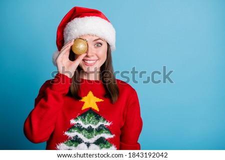 Woman holding Christmas baubles - Christmas in Blue Mountains Stock photo © lovleah