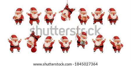 Karácsony piros fehér ajándékok aranyos rénszarvas Stock fotó © Wetzkaz