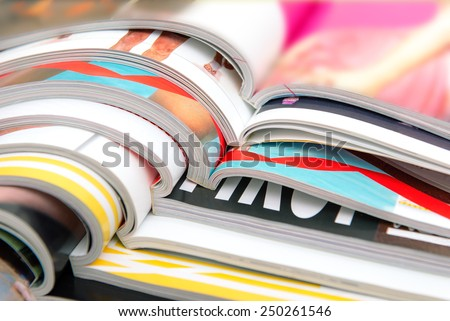 Print Advertising, Published Information on Paper Stock photo © robuart