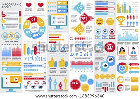 Feedback flows in marketing and social networking vector image. Stock photo © Pixel_hunter