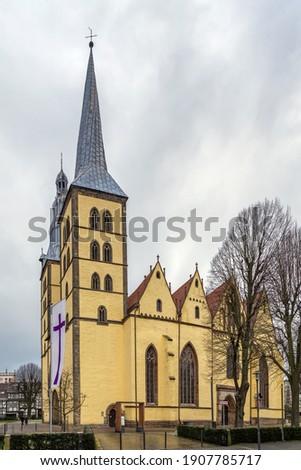 Kerk Duitsland gebouw stad reizen wolk Stockfoto © borisb17