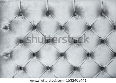 Ezüst luxus kanapé kárpit gombok bútor Stock fotó © Anneleven