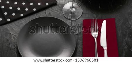 空っぽ 食器 赤 ナプキン 食品 ストックフォト © Anneleven