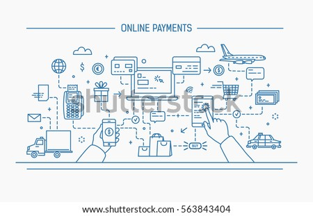 Creditcard betaling taxi diensten online icon Stockfoto © pikepicture