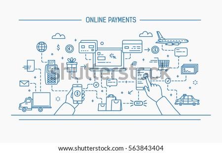 Cartão de crédito pagamento táxi serviços on-line ícone Foto stock © pikepicture