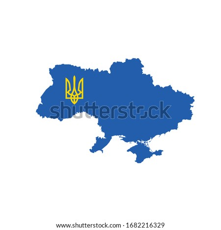 Ukrajna kabát karok szimbólum stock izolált Stock fotó © kyryloff