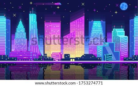 Vektor kettő modern felhőkarcolók épület színes Stock fotó © karetniy