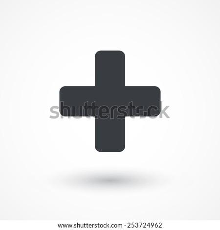 Add plus cross icon. Addition math sign. Medical health symbol. Stock Vector illustration isolated o Stock photo © kyryloff