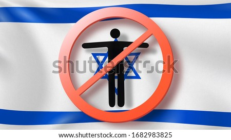 из человека израильский флаг Сток-фото © artjazz