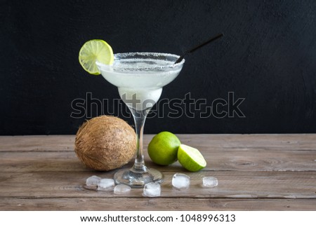Coconut Margarita cocktail with ice cream Stock photo © furmanphoto
