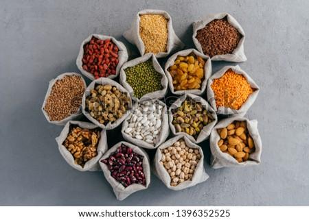 Zdjęcia stock: Naturalnych · zbóż · żywności · górę · widoku · mały
