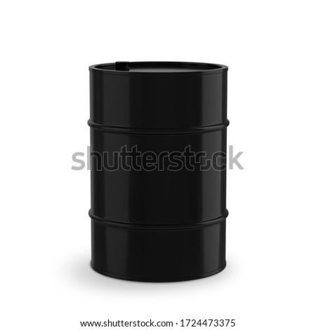metallic barrel and money on white background. Isolated 3D illus Stock photo © ISerg