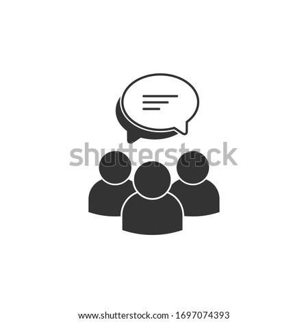 Two Chat bubbles linear icon. communication message symbol. Stock Vector illustration isolated on wh Stock photo © kyryloff