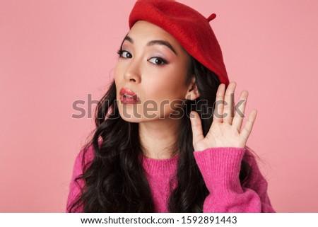 Imagen confundirse Asia nina mano Foto stock © deandrobot
