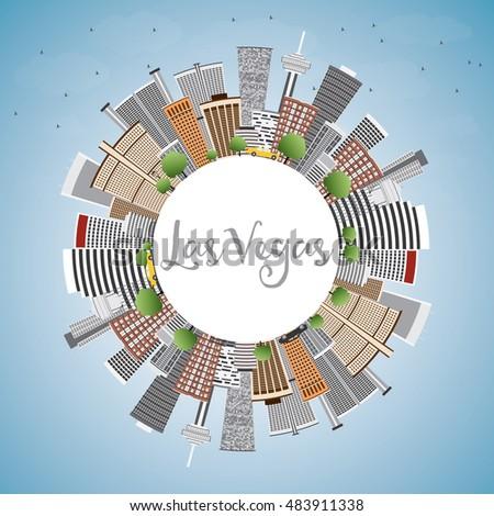 ラスベガス スカイライン グレー 建物 青空 コピースペース ストックフォト © ShustrikS