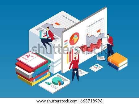 Professional Business Researching of Graph Vector Stock photo © robuart