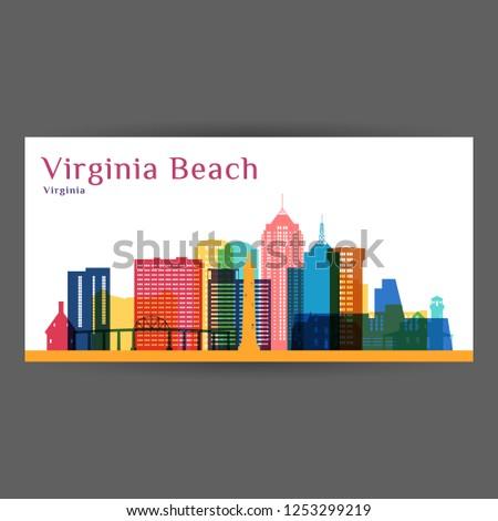 Virginia plaży panoramę niebieski budynków Zdjęcia stock © ShustrikS