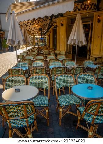 Parisino Servicio restaurante central calle París Foto stock © Anneleven