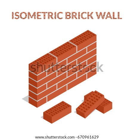 3D parede de tijolos firewall ícone vetor símbolo Foto stock © kyryloff