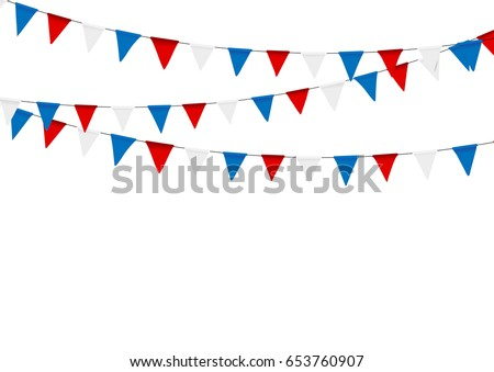 Flag of the Russian political party Fair Russia. Vector illustration on white background Stock photo © butenkow