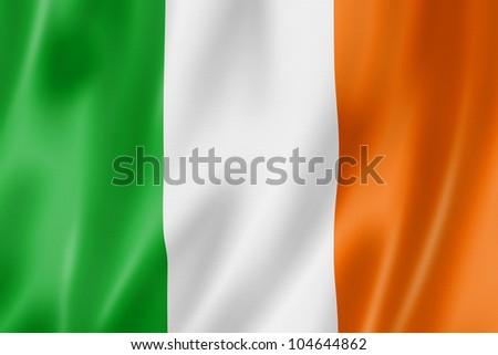 3D bayrak İrlanda rüzgâr Stok fotoğraf © butenkow