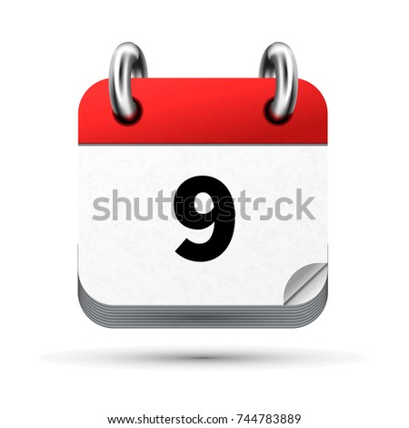 Bright realistic icon of calendar with 9 november date isolated on white Stock photo © evgeny89