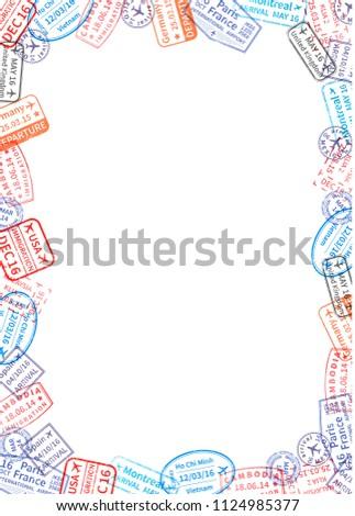 Vertical tamaño blanco hoja papel marco Foto stock © evgeny89