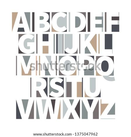 Minimalista mértani betűtípus puha színek izolált Stock fotó © evgeny89
