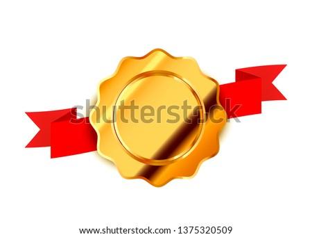 Heldere goud vintage label luxe badge Stockfoto © evgeny89