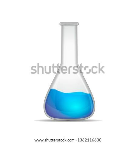реалистичный химического колба синий экспериментальный Сток-фото © evgeny89