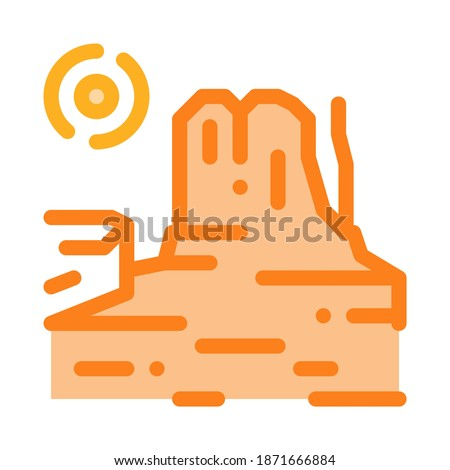 rocky gorge icon vector outline illustration Stock photo © pikepicture