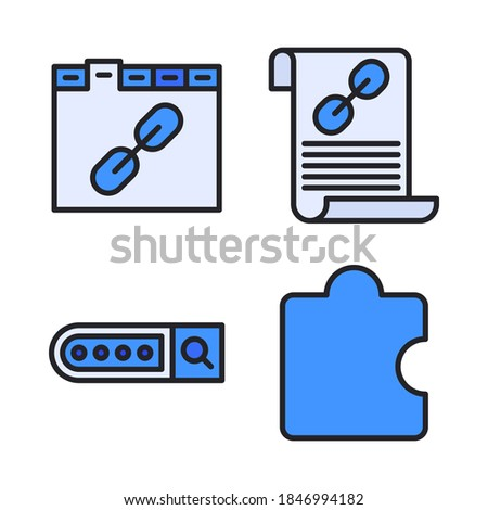 search engine optimization document icon vector outline illustration Stock photo © pikepicture