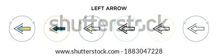 Fullscreen sign icon. 2 Arrows symbol. Icon for App and web. minimize or maximize buttons. Stock Vec Stock photo © kyryloff
