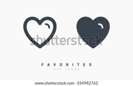 Ulubione serca zestaw odizolowany minimalny liniowy Zdjęcia stock © kyryloff
