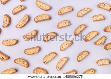 Beker koffie vers Italiaans cookies amandel Stockfoto © marylooo