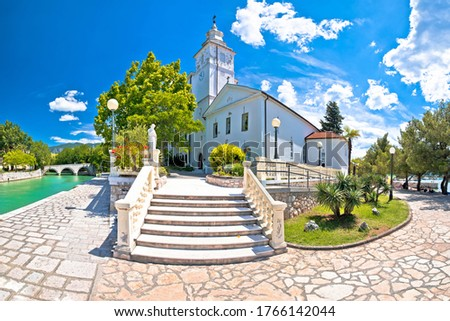 Crikvenica. Church of the Assumption of the Blessed Virgin Mary  Stock photo © xbrchx