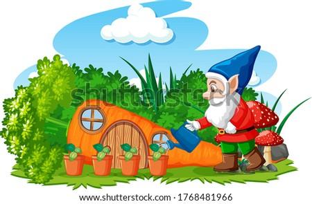 Roślin marchew domu cartoon stylu Zdjęcia stock © bluering