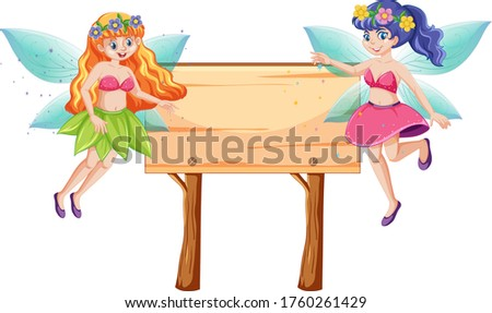 Fairy tales with blank banner wood cartoon style on white backgr Stock photo © bluering