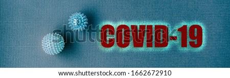 COVID-19 Coronavirus header background. Virus from Wuhan, China. panoramic banner of name text title Stock photo © Maridav